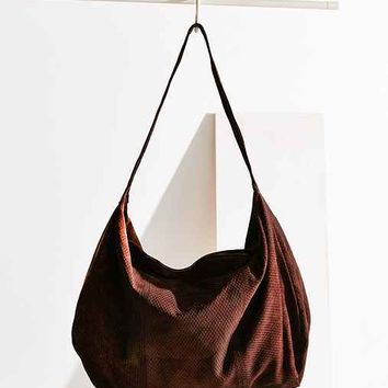 Ecote Embossed Suede Weekender Bag