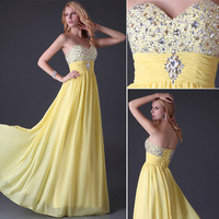 Sleeveless Prom Formal Gown Ball Dress Evening Cocktail Wedding Maxi Party Dress
