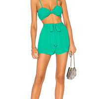 by the way. Charlee Short Set in Kelly Green | REVOLVE