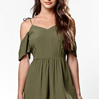 Kendall & Kylie Short Sleeve Cold Shoulder Romper at PacSun.com
