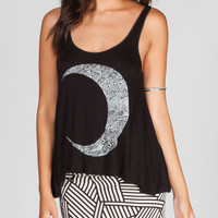 Workshop Crescent Womens Tank Black  In Sizes