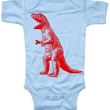 NEW  Roaring Red Dinosaur Sky Blue Baby Boy by happyfamily on Etsy