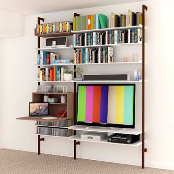 SALE ITEM - Fold Down Desk and Media All-in-One