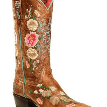 Macie Bean Rose Garden Cowgirl Boots - Snip Toe