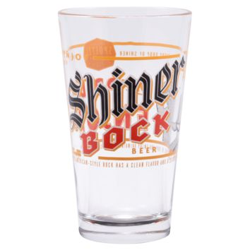 Shiner Bock Pint Glass