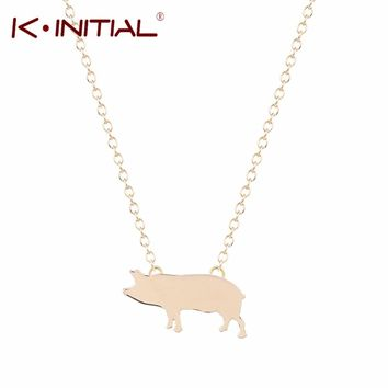 Gold Silver Plated Pig Necklace