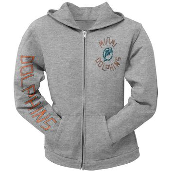 Miami Dolphins - Sunday Juniors Zip Hoodie