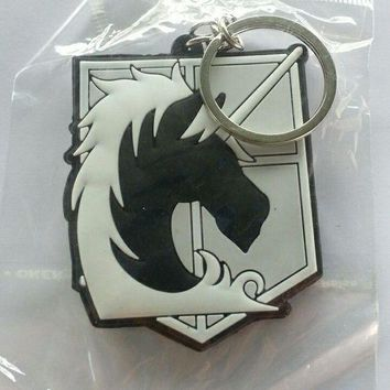 Brand New Shingeki no Kyojin Attack on Titan Military Police Silicone keychain