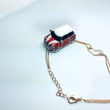 super small car bracelets,luxurious gift,mini red car,drop of oil plus,Zircon lights,Adjustable bracelets,so cool,K&L design