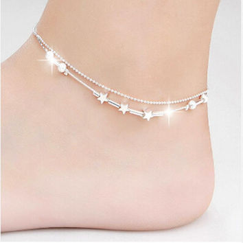 Simple Heart Ankle Bracelet Chain