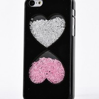 Big Mango Deluxe Bling Colorful Moving Diamond Rhinestone Protective Shell / Hard Back Case Cover for Apple iPhone 5 5s 5g with Cute Strawberry Design ( At&t, Sprint, Verizon ) - Black