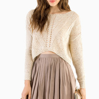 Maine Cropped Sweater $54
