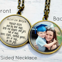 Mother/Son Necklace - Gifts for mom from son