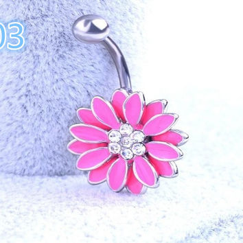 2017 Hot Body Piercing Jewelry Women Sexy  Retro love Navel Piercing Belly Button Ring  -0406