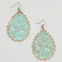 FULL TILT Patina Filigree Oval Earrings | Earrings