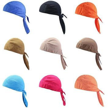 Quick Dry Pure Cycling Cap Head Scarf Summer Men Running Riding Bandana Headscarf Ciclismo Pirate Hat Hood Headband