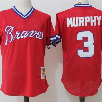 Men's Atlanta Braves Dale Murphy Mitchell & Ness Red 1980 Authentic Cooperstown Collection Mesh Batting Practice Jersey