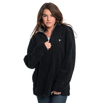Sherpa Pullover with Pockets in Black by The Southern Shirt Co. - FINAL SALE