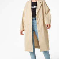 Long coat - Sand storm beige - Coats & Jackets - Monki IT