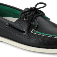 Sperry Top-Sider Authentic Original Two-Tone 2-Eye Boat Shoe BlackLeather, Size 11M  Men's Shoes