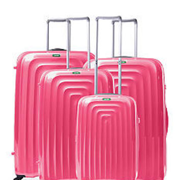 Lojel Wave Hardside Spinner Luggage Collection Pink - Online Only