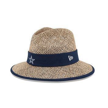 New Era Dallas Cowboys Training Camp Straw Hat - Men, Size: One Size (White)