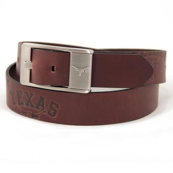 Texas Longhorns NCAA Men's Embossed Leather Belt (Size 40)