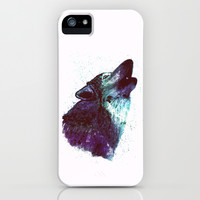 Wolf iPhone & iPod Case by Cedric S Touati