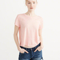 Womens Burnout Boxy Tee | Womens New Arrivals | Abercrombie.com