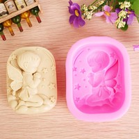 3D 1-Cavity Baby  Praying Angel Boy Silicone Candle Mold,Form for soap ,Moulds for soap making,Fondant Cake Molds  JH017