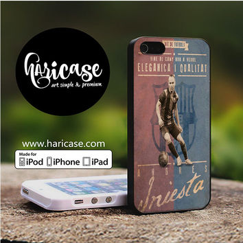 Andres Iniesta Barcelona iPhone 5 | 5S | SE Cases haricase.com