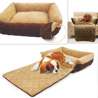 Pet Dog Cat Mutifunctional Luxury Sofa Warm Soft Mat Bed For Puppy Kitten