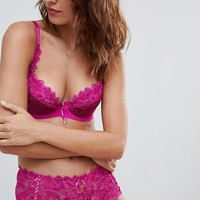 Lepel Fiore Magenta Padded Plunge Bra & Brief Lingerie Set at asos.com