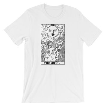 The Sun Tarot T-Shirt White