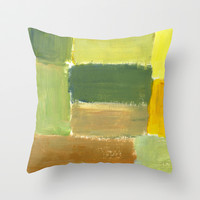 Sitting in Painting Session Throw Pillow by StevenARTify