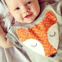 Cute Baby Clothes Baby Newborn Boy Infant Baby Boys Girls Cute Fox Jumpsuit Romper Outfits Clothes