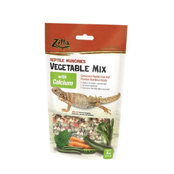 Zilla Reptile Munchies Vegetable Mix w/Calcium 4 oz