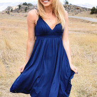 Telluride V-Neck Dress Navy