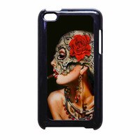Floral Sugar Skull Cigarettes iPod Touch 4th Generation Case