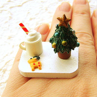 Christmas Ring Kawaii Food Cookies Hot by SouZouCreations on Etsy