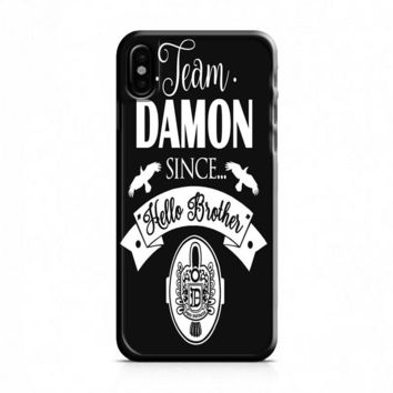 Team Damon Since Hello Brother The Vampire Diaries iPhone X Case