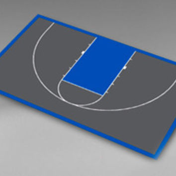 "VersaCourt H-10 Half Basketball Court Surfacing - 59'5"" x 30'9"""