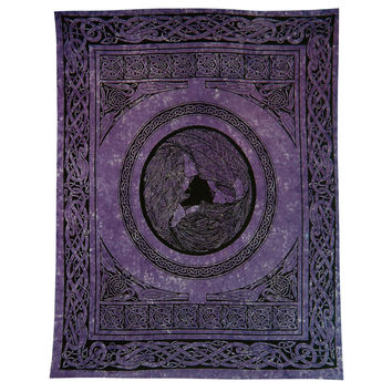 Celtic Water Goddess Purple Full Tapestry