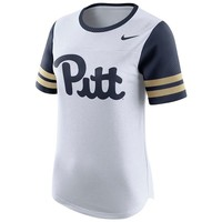 Pitt Panthers Women's White Modern Fan Top by Nike