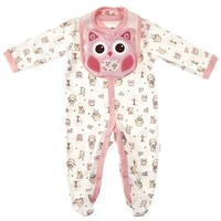 3pc Coverall Set Pink Owl 0 9m 310312490 | Baby Gift Sets | Baby Gifts | Clothing | Burlington Coat Factory