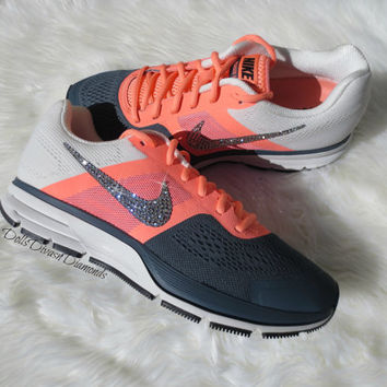 GORGEOUS NEW WOMEN'S Nike Air Pegasus w/ Swarovski Rhinestones- Atomic Pink