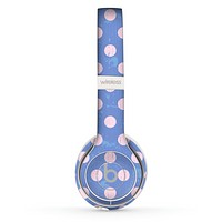 The Vintage Scratched Pink & Purple Polka Dots Skin Set for the Beats by Dre Solo 2 Wireless Headphones