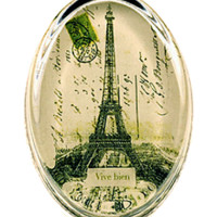 'Eiffel Tower, Vive bien' Glass Paperweight