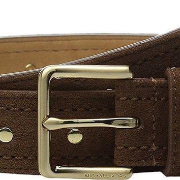 MICHAEL Michael Kors Women's 32mm Suede Belt with Heavy Pick Stitch and Stud Detail Da
