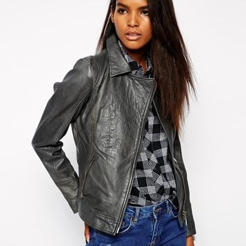 Doma Moto Leather Jacket with Zips